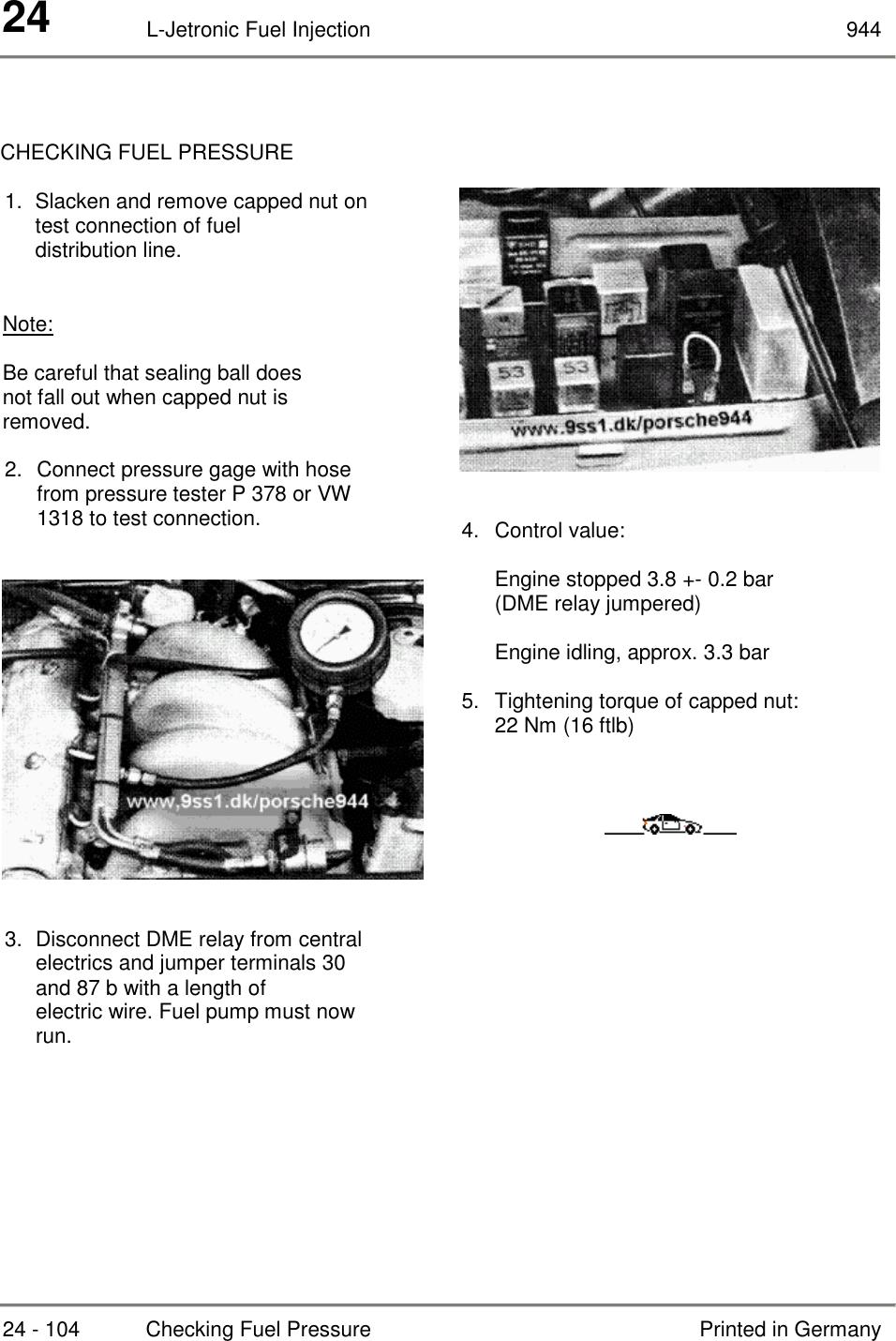 Dme Relay Porsche 944 S2