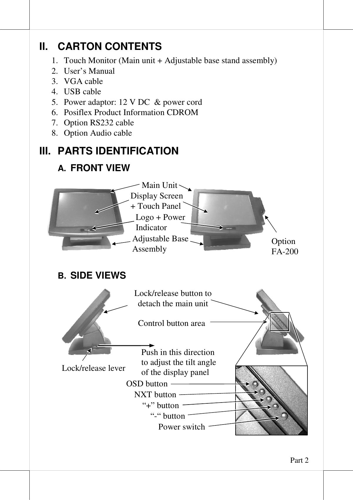 Posiflex Business Machines Lm Tm 7115 7115N Users Manual