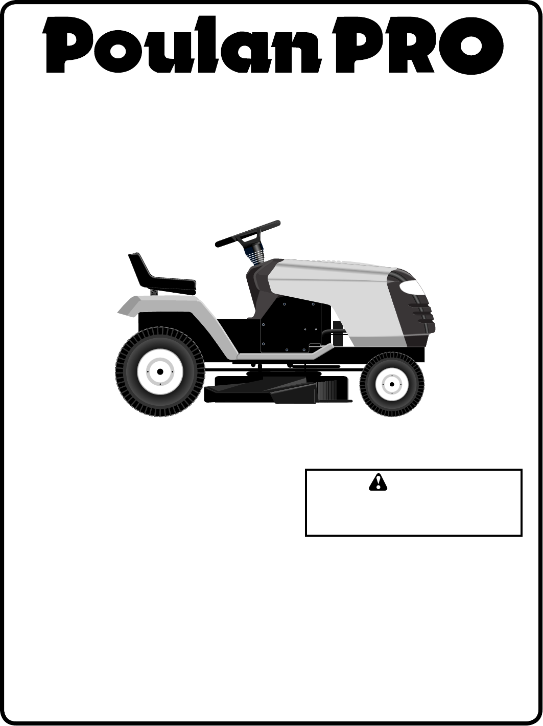 Poulan Pr20h42sta 2003 08 Owners Manual Om Tractors Wiring Diagram For Lawn Mower 173411 To The 0aa3db2e Afcd 4899 B298 061576fcd9d1