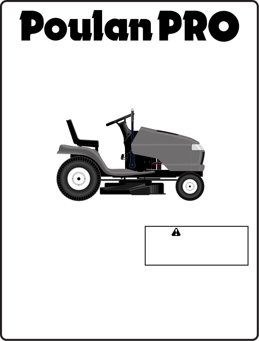 Poulan Pr20Ph42Sta 2002 02 Owners Manual OM, PR20PH42STA, 02, TRACTORS/RIDE  MOWER