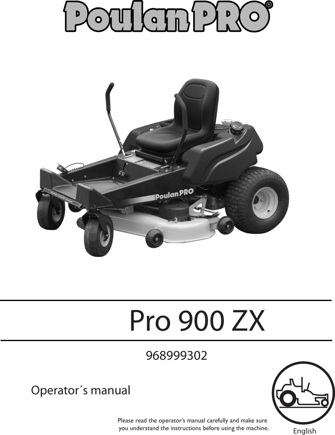 Poulan Pro 900 Zx 2005 12 Zero Turn Consumer 968999302