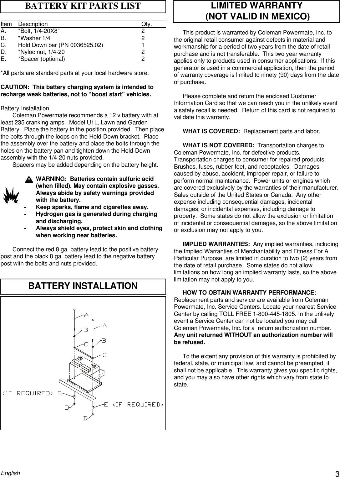 Powermate Premium Plus 5000 Pm0505622 18 Users Manual PM0505622.18