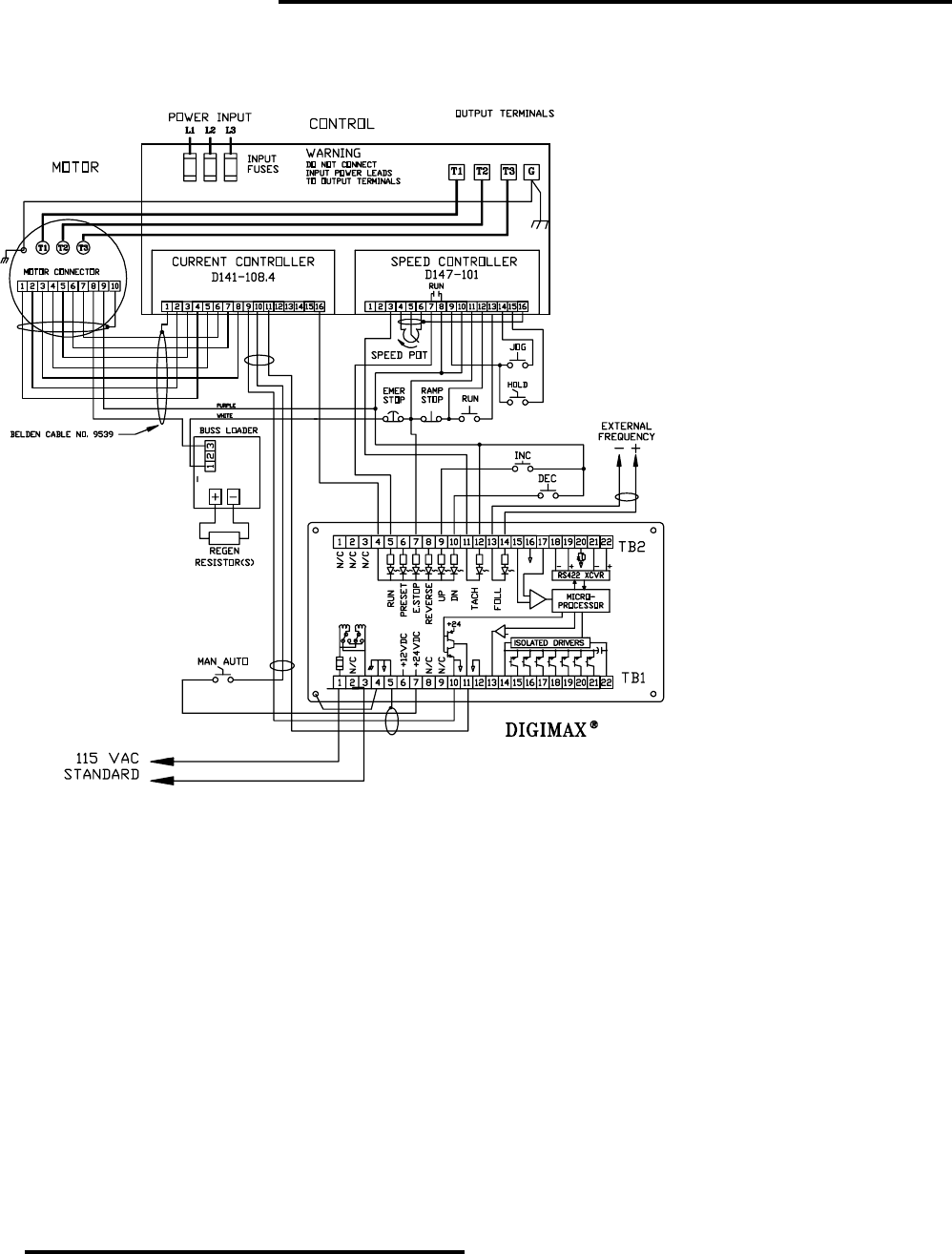 Powertec Regenerative Brushless Dc Motor Control 1000ar Users Manual North Star Capacitor Wiring Diagram Model Installation And Operation Page 29