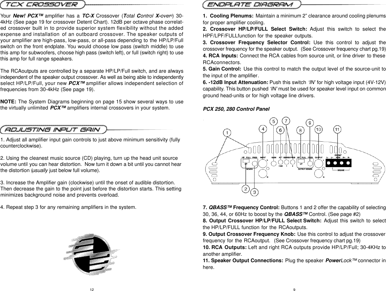 Precision Power Pcx 250 Users Manual Subwoofer Wiring Diagram Page 6 Of 12