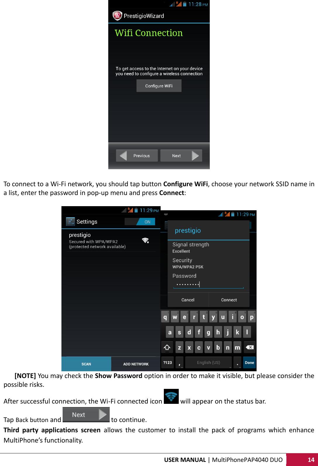 Prestigio Multiphone Pap 4040 Duo Users Manual