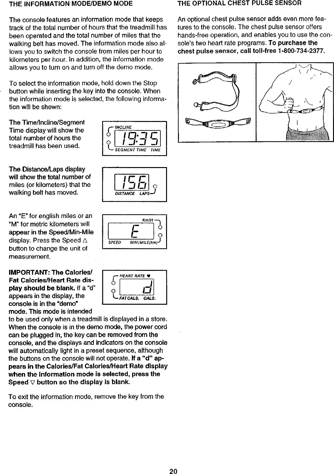Proform 831293250 User Manual TREADMILL Manuals And Guides L0211088