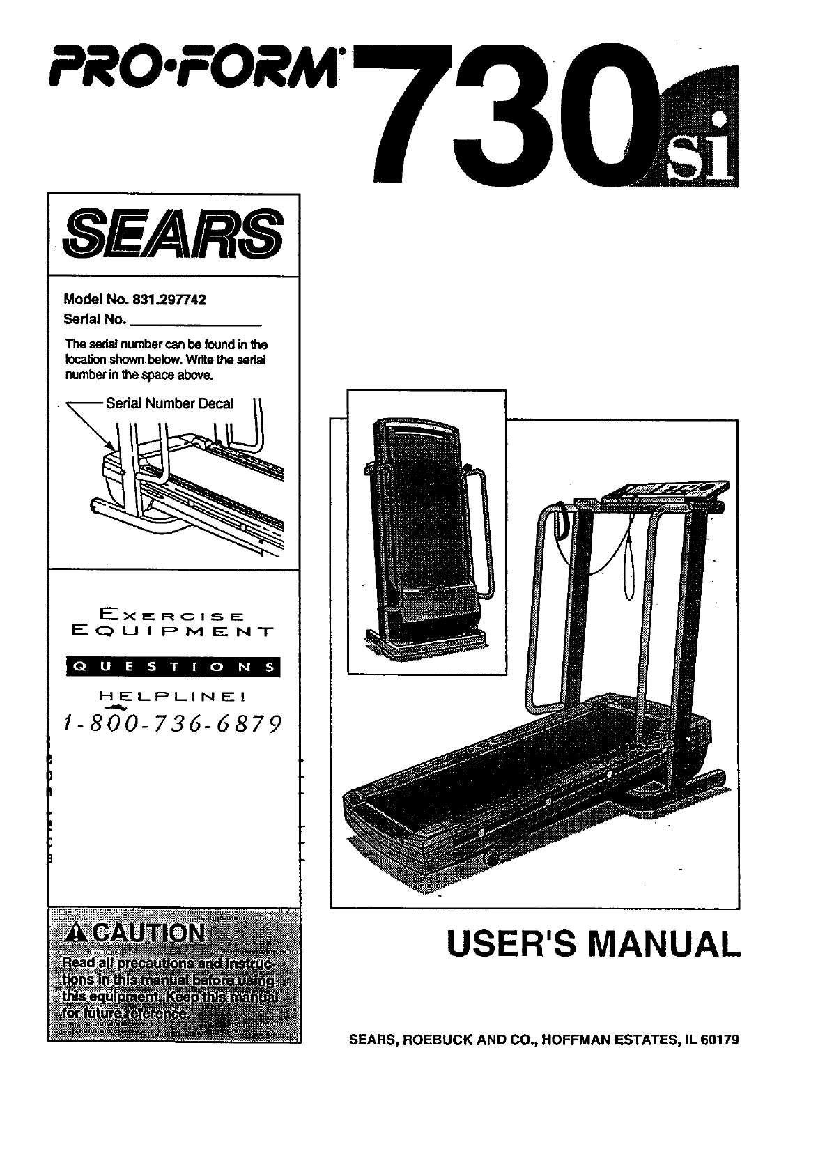 Proform 831297742 User Manual 730SI Manuals And Guides 99020104