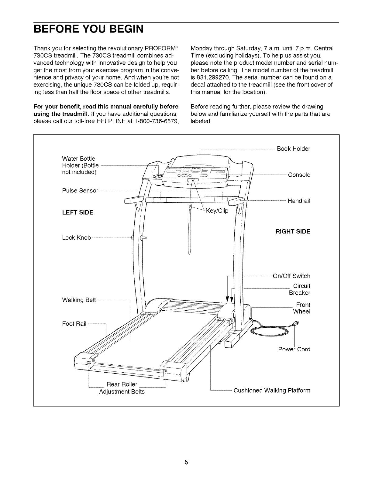 Proform 831299270 User Manual 730cs Manuals And Guides Lr707400 Treadmill Wiring Diagram
