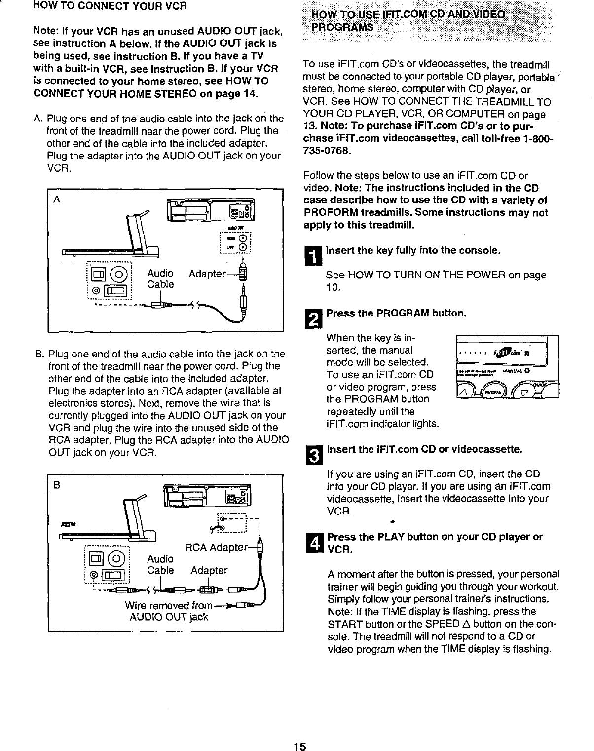Proform 831299460 User Manual 730CS Manuals And Guides L0011133