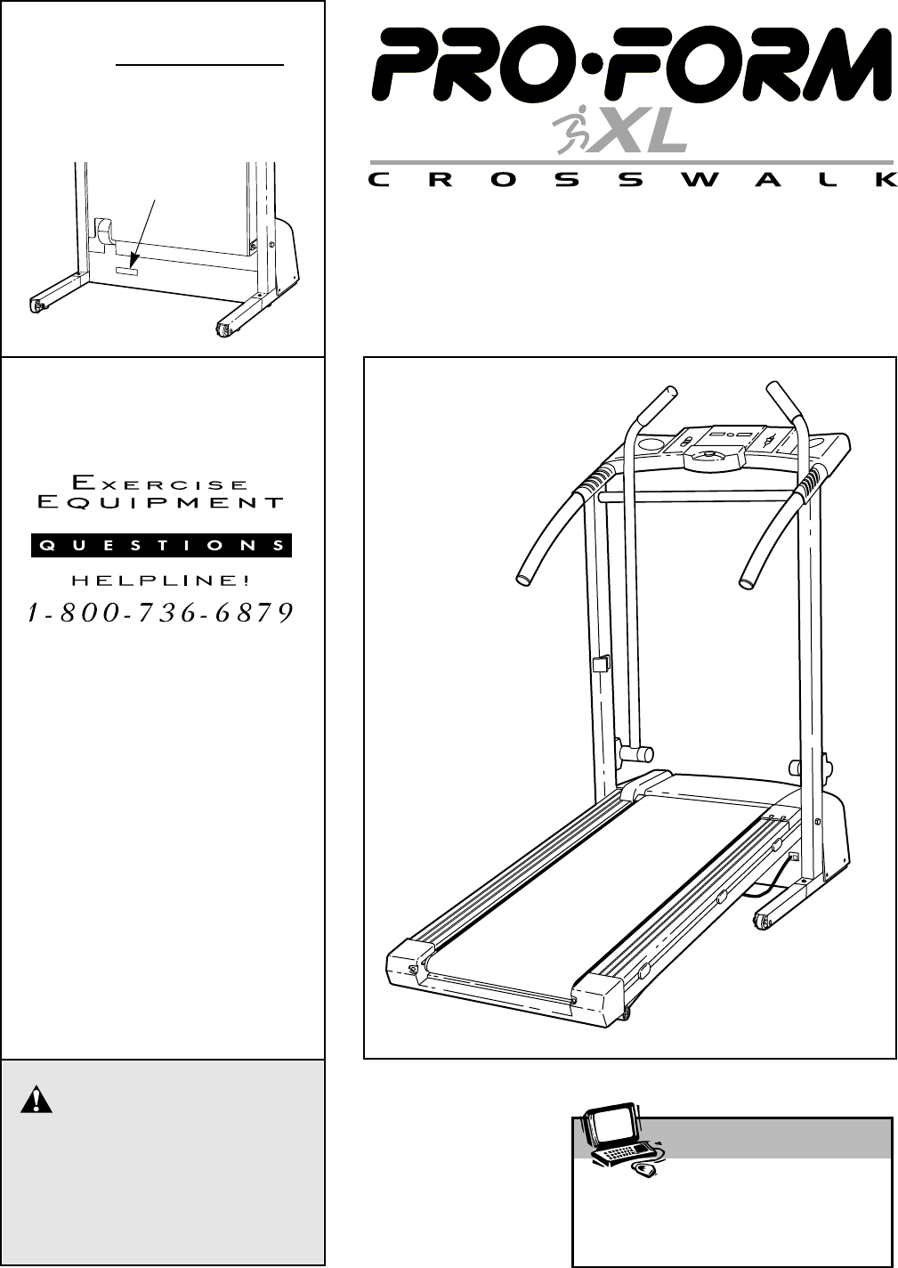 Proform 299216 Crosswalk Xl Treadmill Users Manual