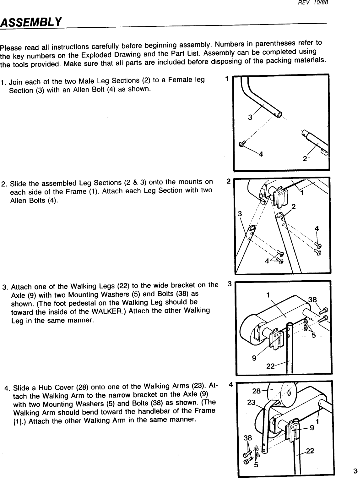 Proform Pfaw0 Air Walker Users Manual Tachometer Wiring Diagram Page 3 Of 8