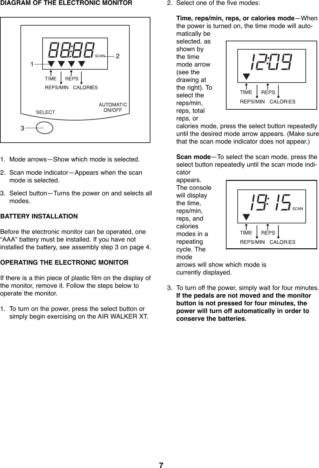 Proform Pfaw76070 Airwalker Xt Users Manual *PFAW76070 138946