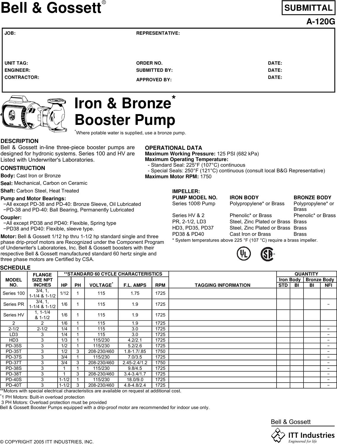 10327 1 B&G 105101 Brochure S User Manual