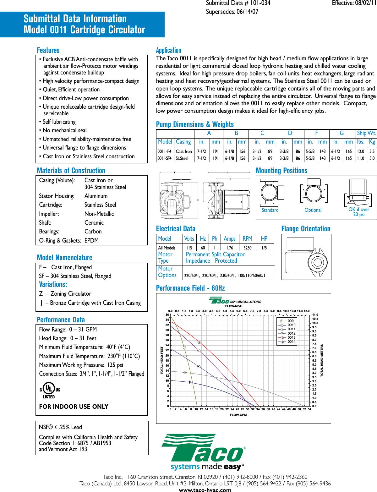 taco cartridge circulator 007 f5 wiring diagram taco 0011