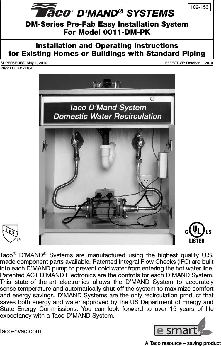 Amazing 12587 4 Taco 0011 Dm Pk Instructions E Smartlogo User Manual Wiring 101 Eumquscobadownsetwise Assnl
