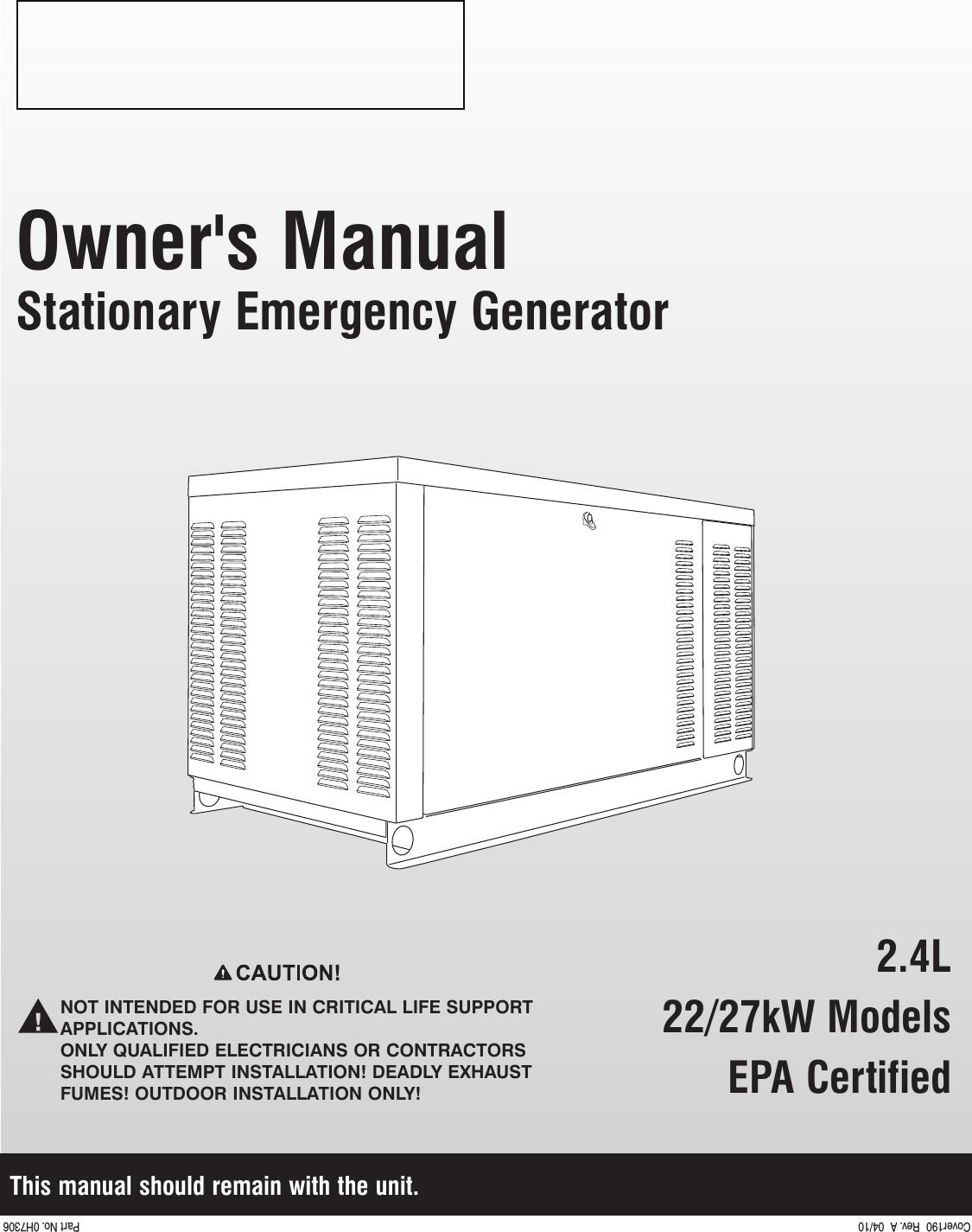 13376 2 Generac Qt02224anax Owners Manual User 30 Amp Generator Plug Wiring Diagram