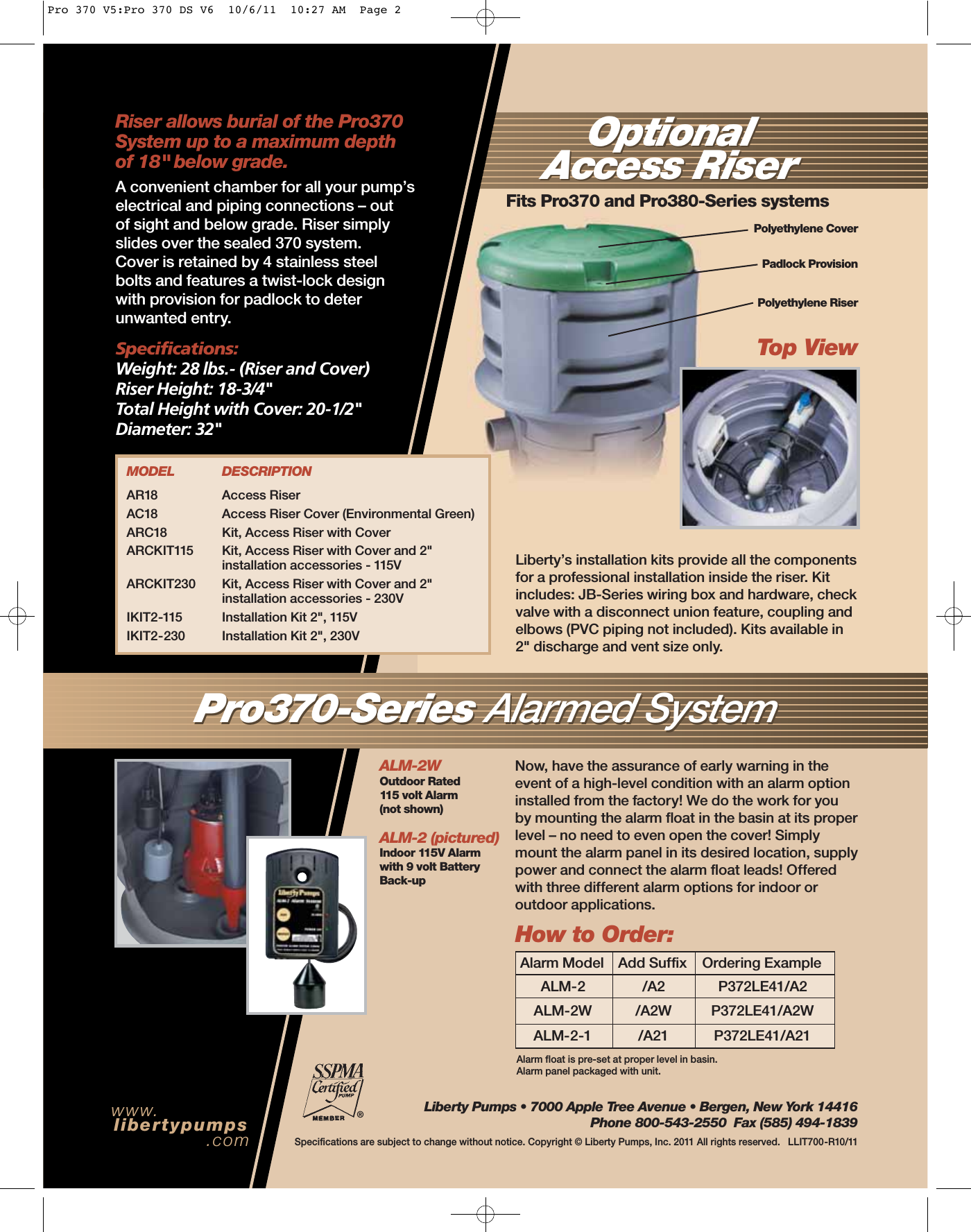1592 1 Liberty P372le41a2 Brochure User Manual Pump Wiring Page 4 Of