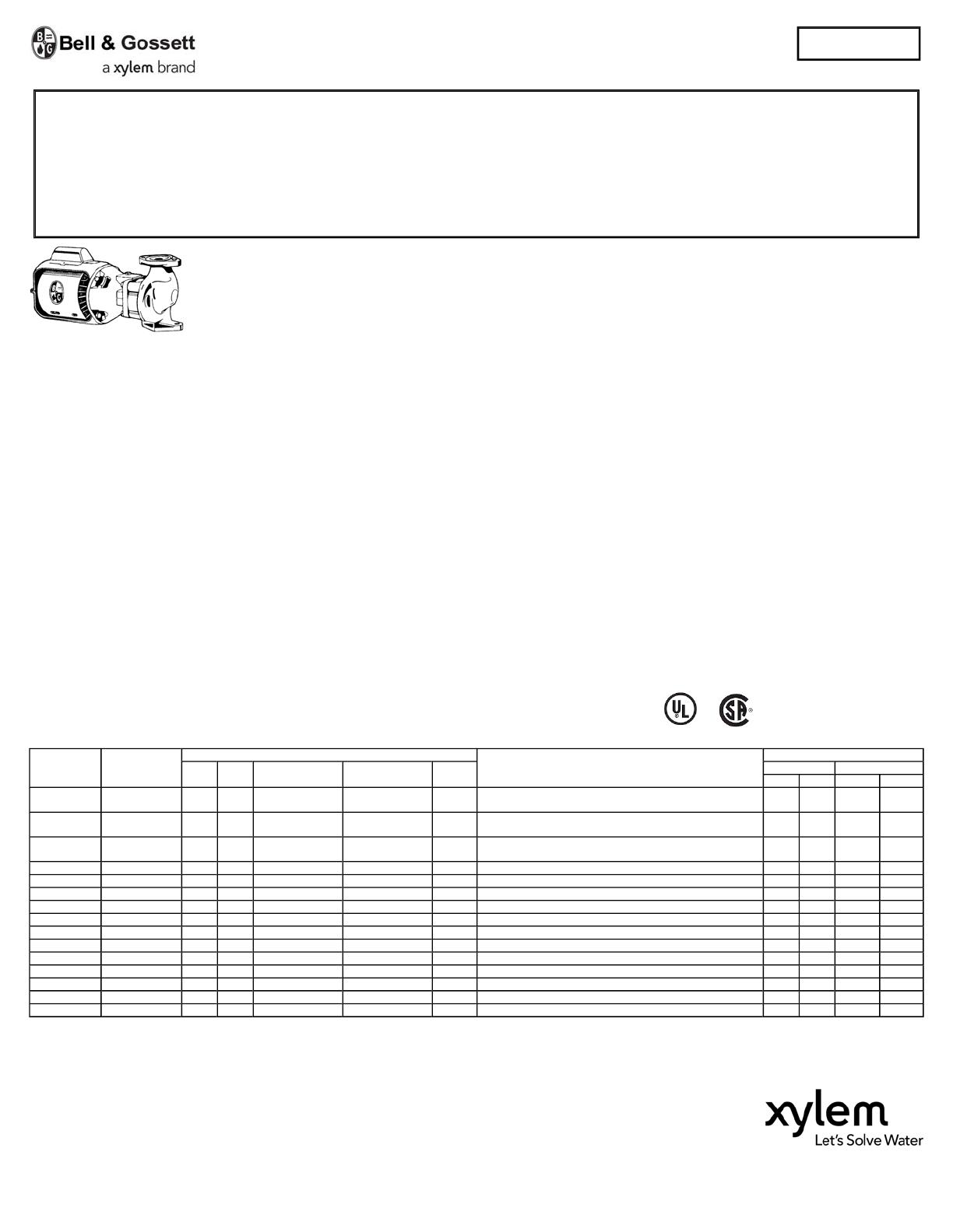 16912 1 Bg 102217lf Submittal User Manual Bell Amp Gossett Wiring Diagram
