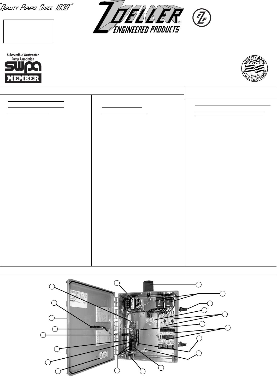 Zoeller Duplex Pump Control Panel Wiring Diagram Electrical Schematic 17092 2 Zm1342 Panels User Manual Septic