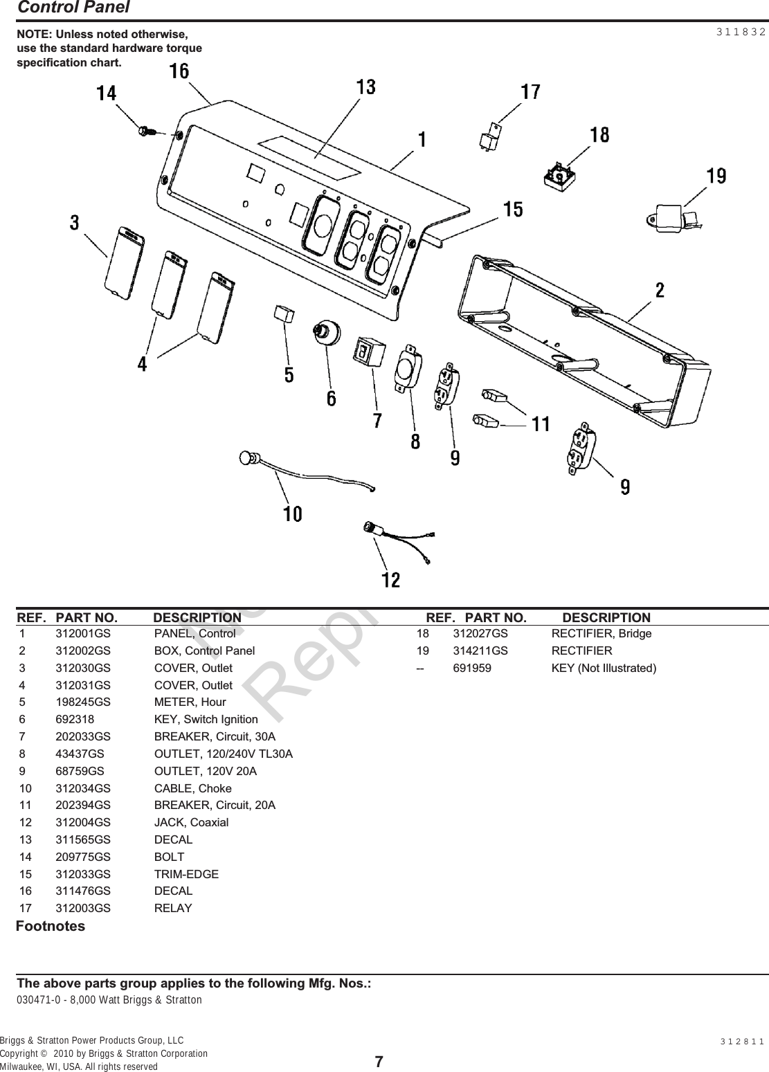 Cylinder Block Group Diagram And Parts List For Briggs Stratton All