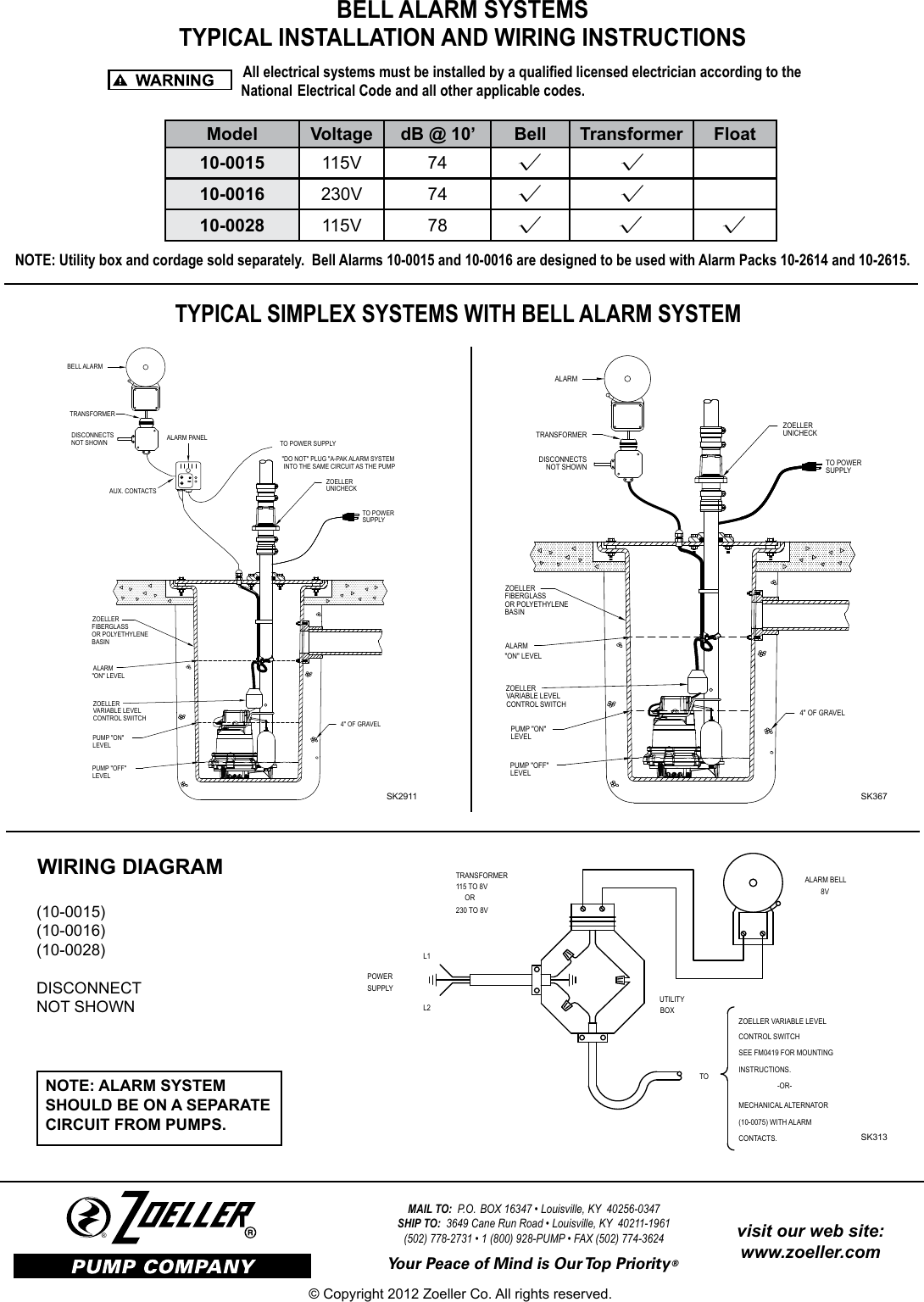 Zoeller Pump Float Switch Wiring Diagram Diagrams Html Square D On Water Well