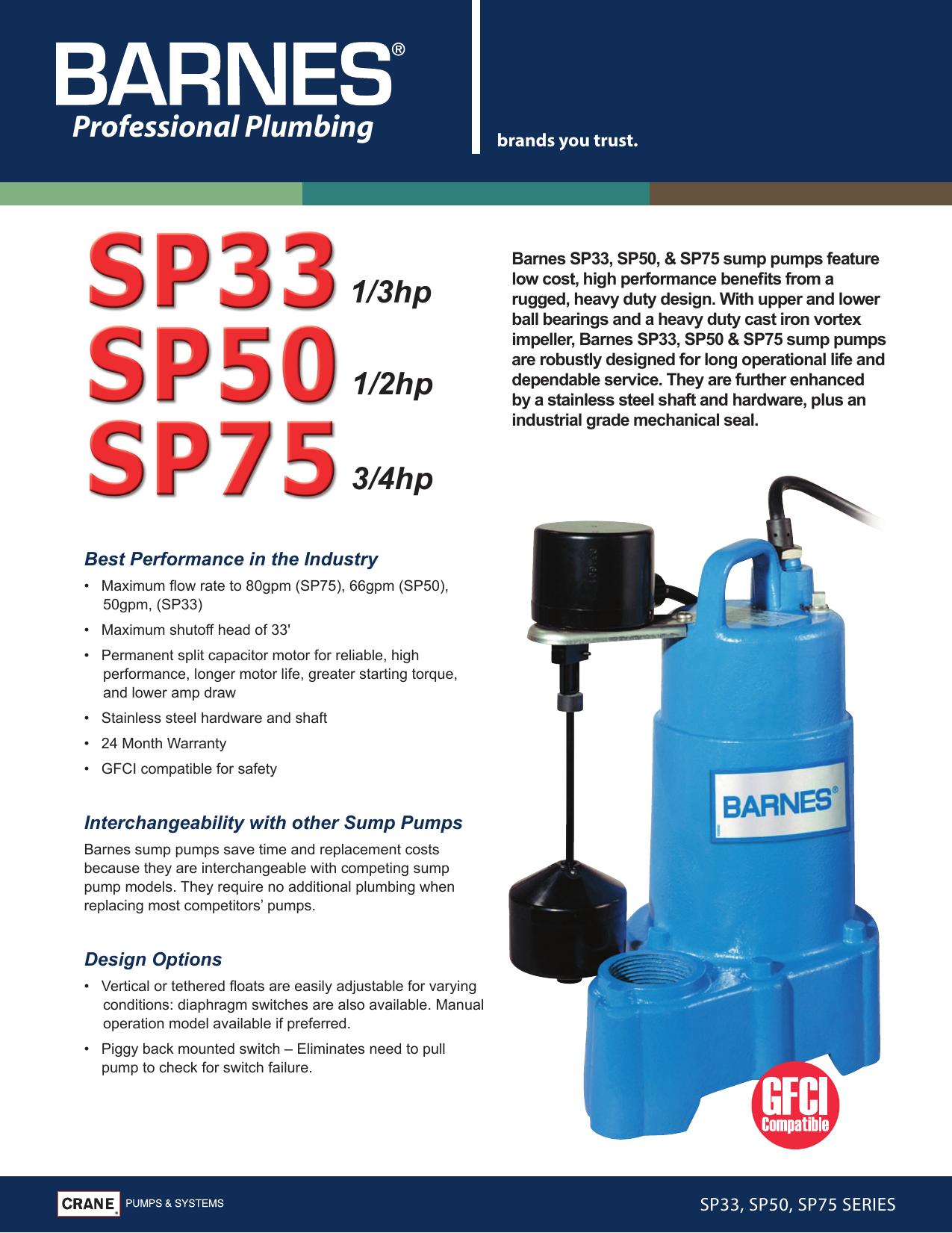 534479 1 Barnes Sp75 Brochure User Manual