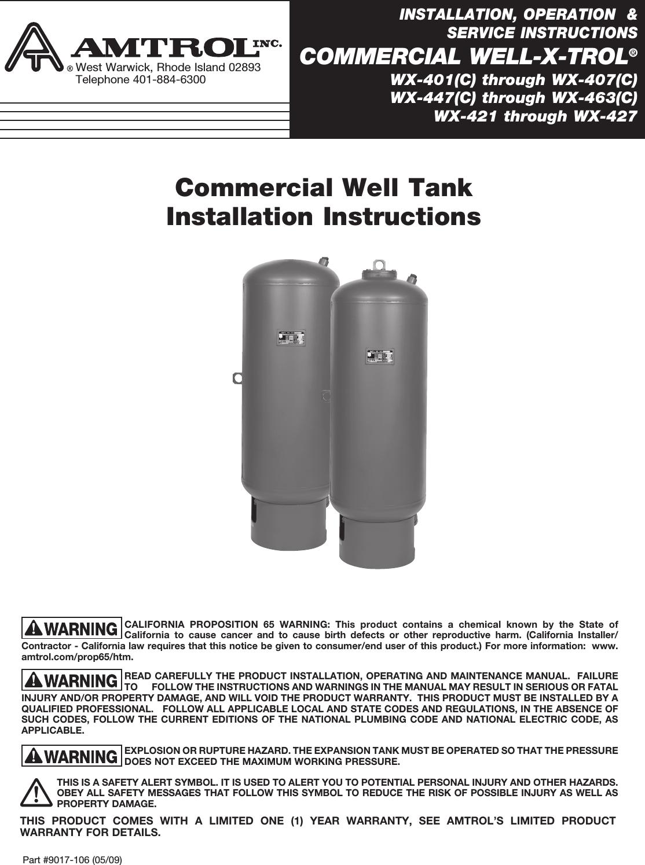 534962 2 Well X Troll Instructions 9017 106 5_09 Comm WXT IO