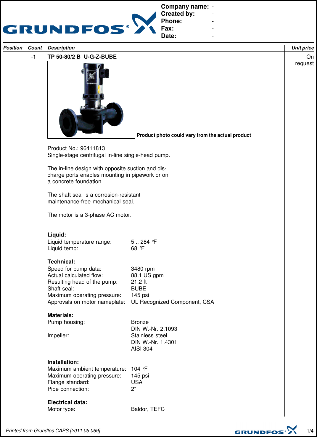 535014 1 grundfos tp 50 submittal print preview user manual rh usermanual wiki Instruction Manual User Manual Template