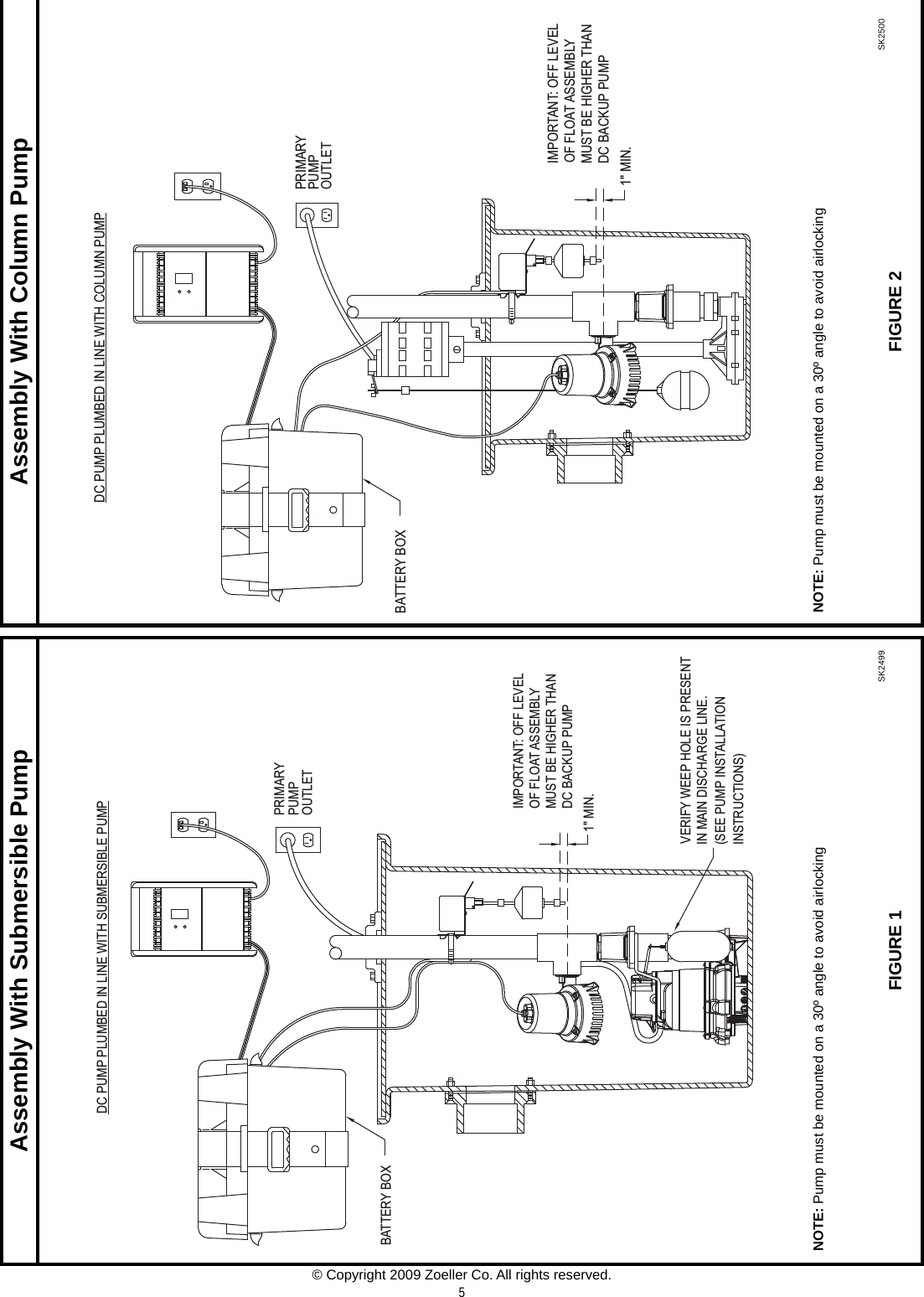 537026 1 Zoeller 507 Basement Sentry System Installation Manual Submersible Pump Wiring Diagram Page 5 Of 8 Fm1311