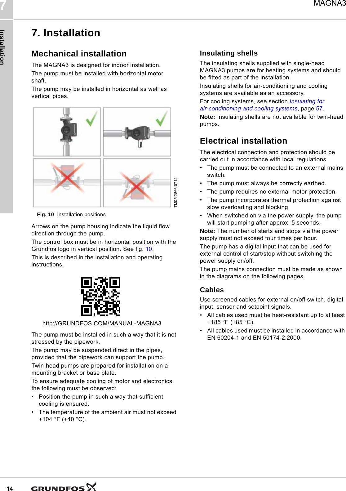 grundfos magna3 pump manual best pump 2018 rh trainselfs site Grundfos Magna 40 120 grundfos magna3 installation instructions