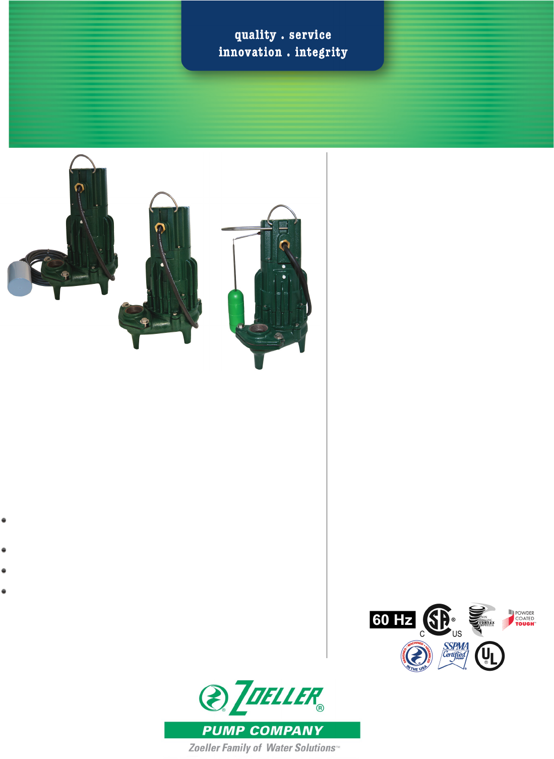 537426 2 Zoeller Waste Mate 290 Series Pump Specifications Company Submersible Wiring Diagram 537428