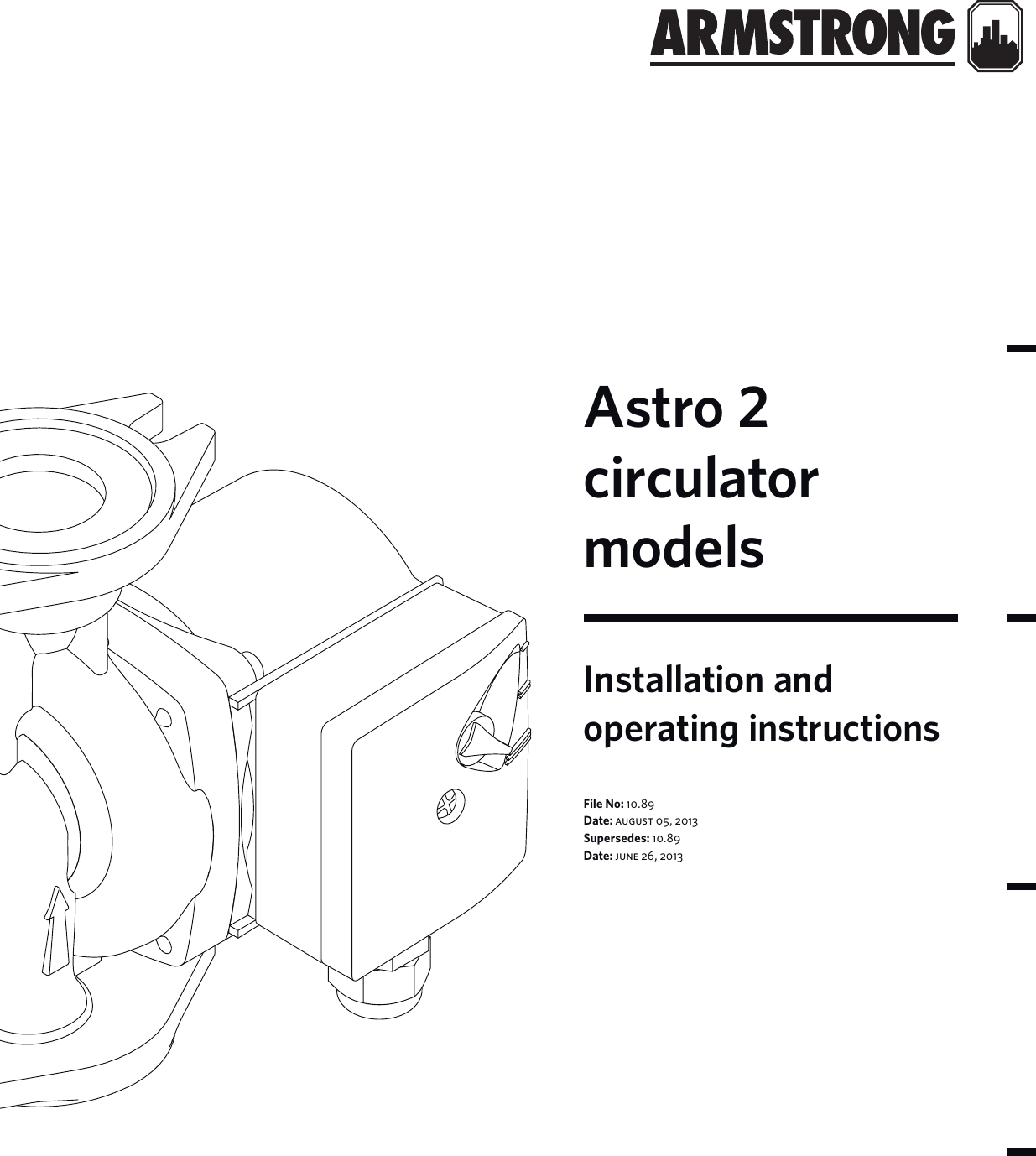 537643 3 Armstrong Astro 2 Series Circulator Installation Pump Motor Wiring Diagram Instructions User Manual