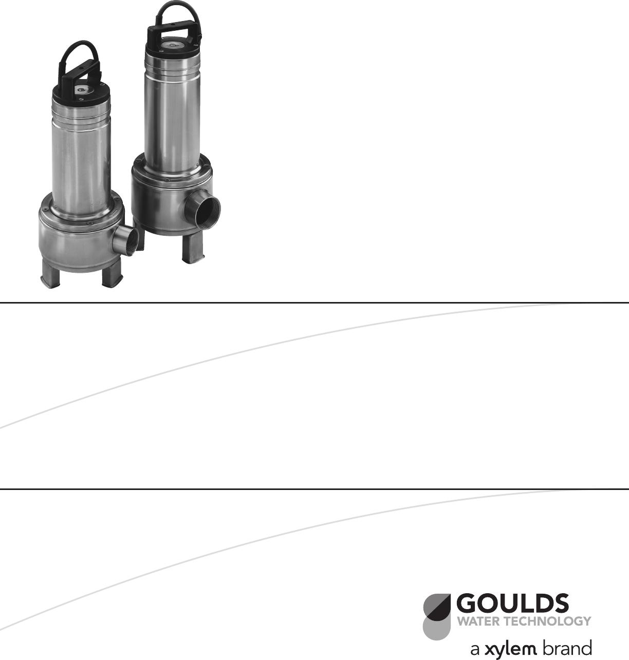 538014 1 Goulds Submersible Sewage Pump Brochure User Manual