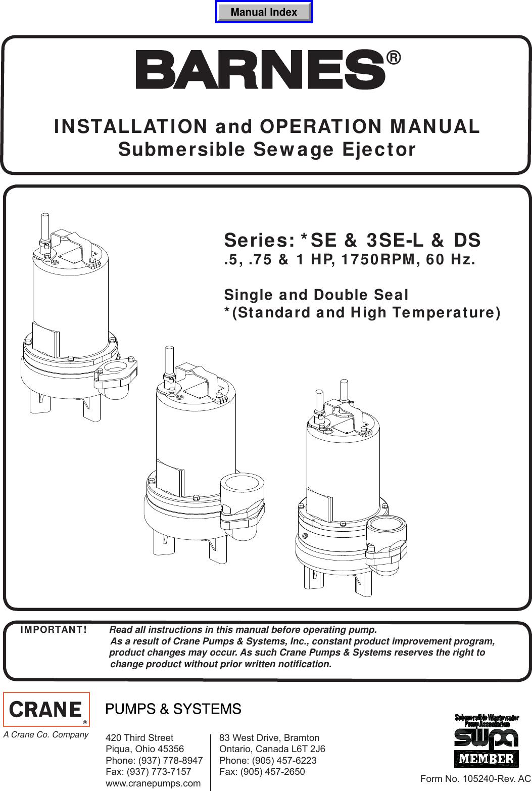 Sump Pump Wiring Manual Guide