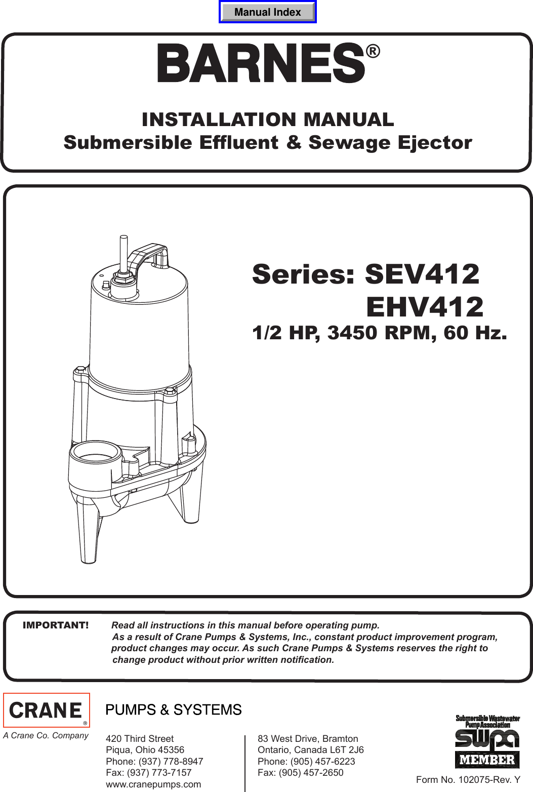 539778 2 Barnes Sev412 Installation Manual Hydraulic Pump Wiring Diagram For