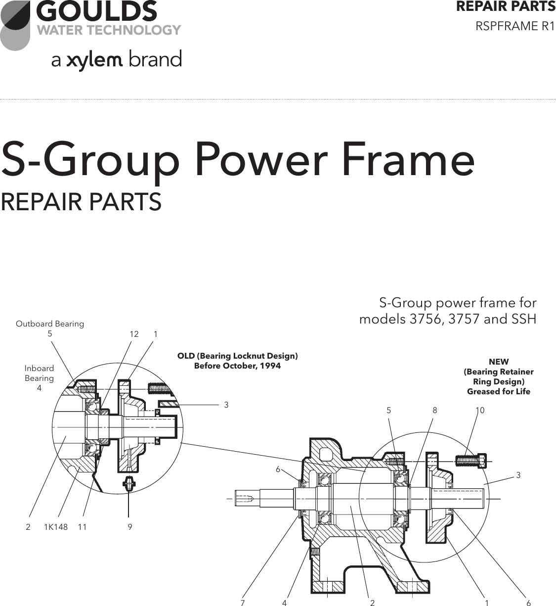 539998 4 Goulds 3656 S Series End Suction Flanged Centrifugal Pump