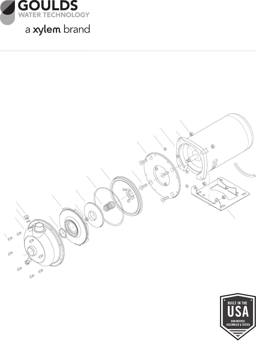 540144 5 Goulds MCC Series Centrifugal Pump Repair Parts