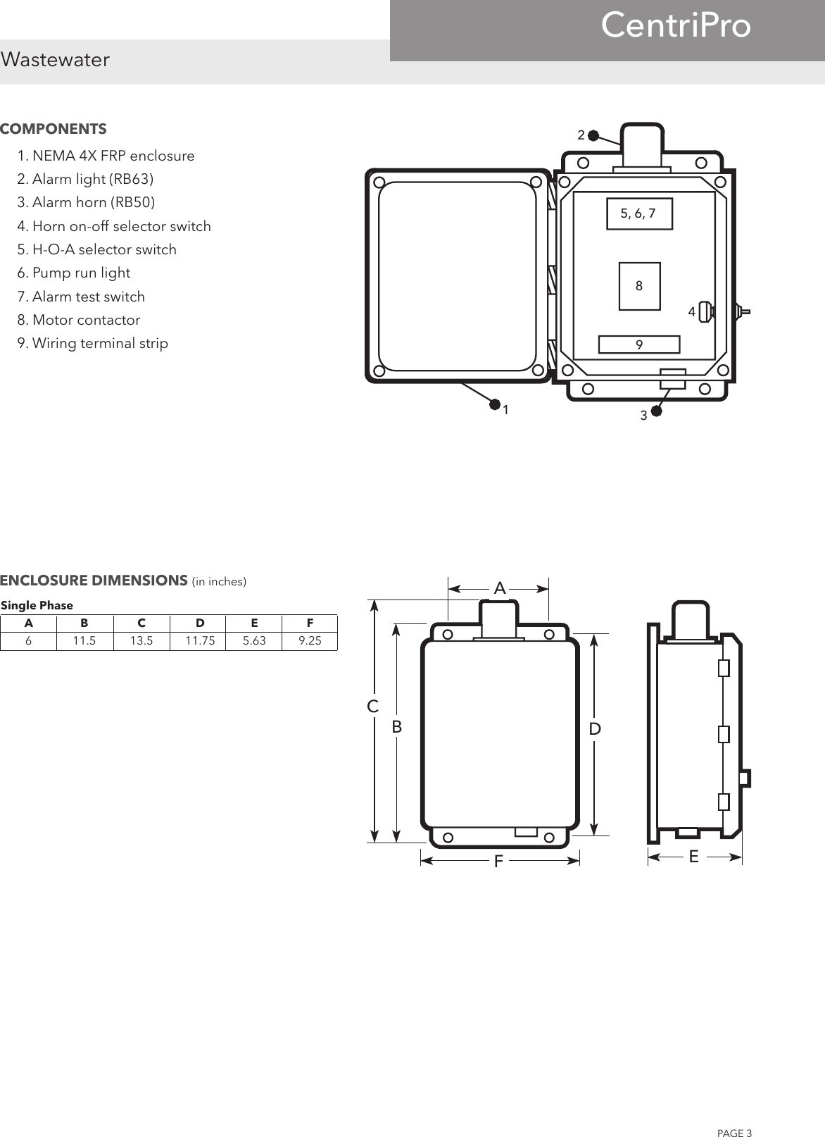 540190 1 Centripro S10015 Simplex Control Panel Brochure Pump Wiring Diagram Page 3 Of 4