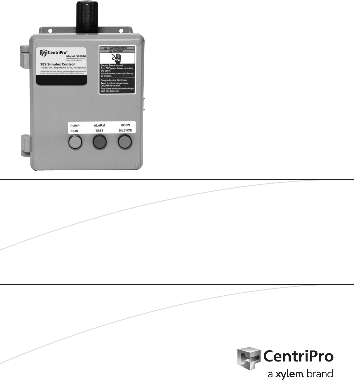 Centripro Automatic Pump Control Manual