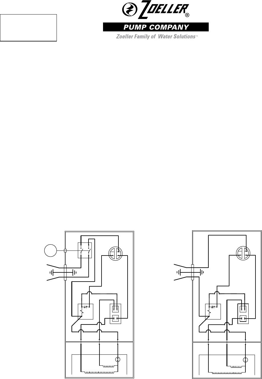 543172 4 Zoeller 803 805 807 Series Parts List Pump Wiring