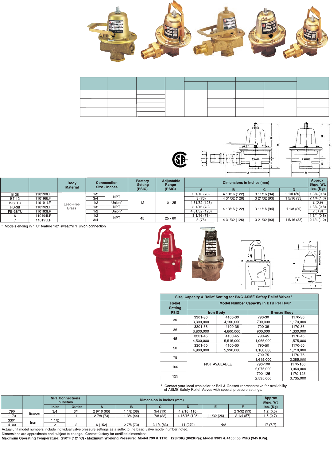 1//2 Size 1//2 Size Bell /& Gossett ATF-12 Airtrol Fitting for 12-14 Compression Tank