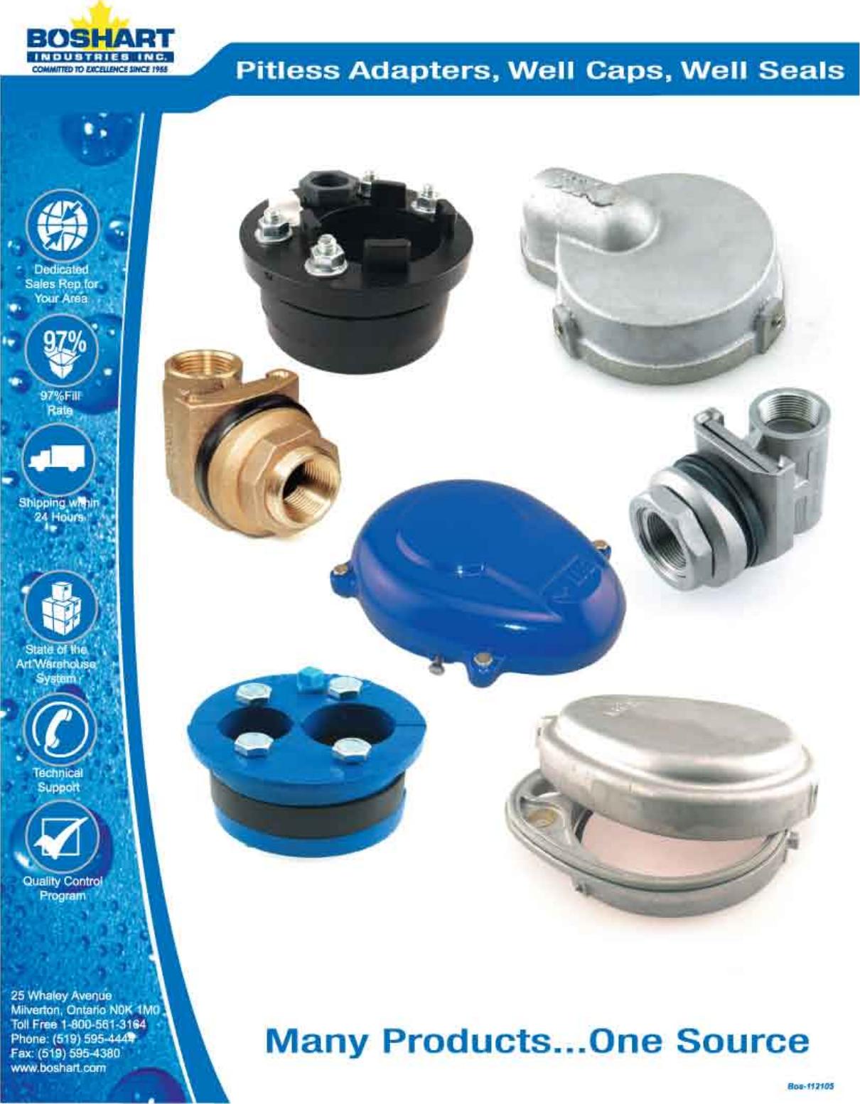 Pitless Adapters Well Caps Seals 548342 1 Boshart PA 100NL Bronze