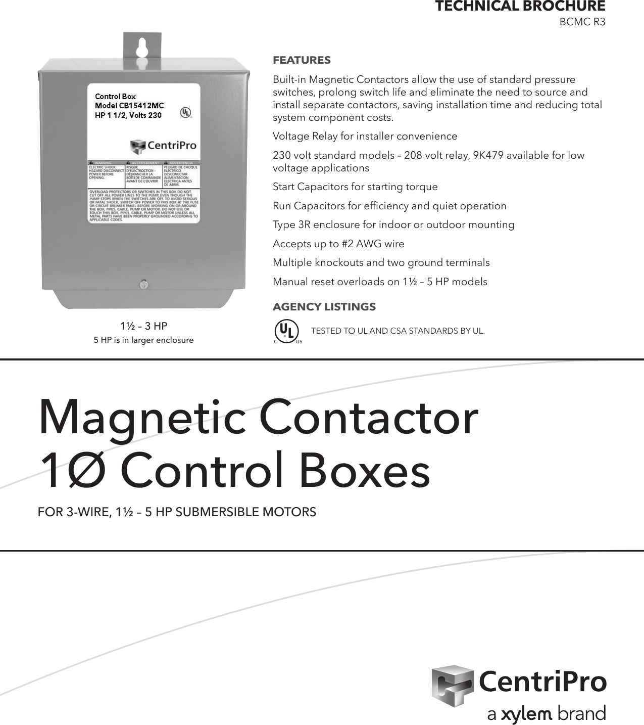 548699 1 Goulds 3 Wire Magnetic Contactor Brochure on