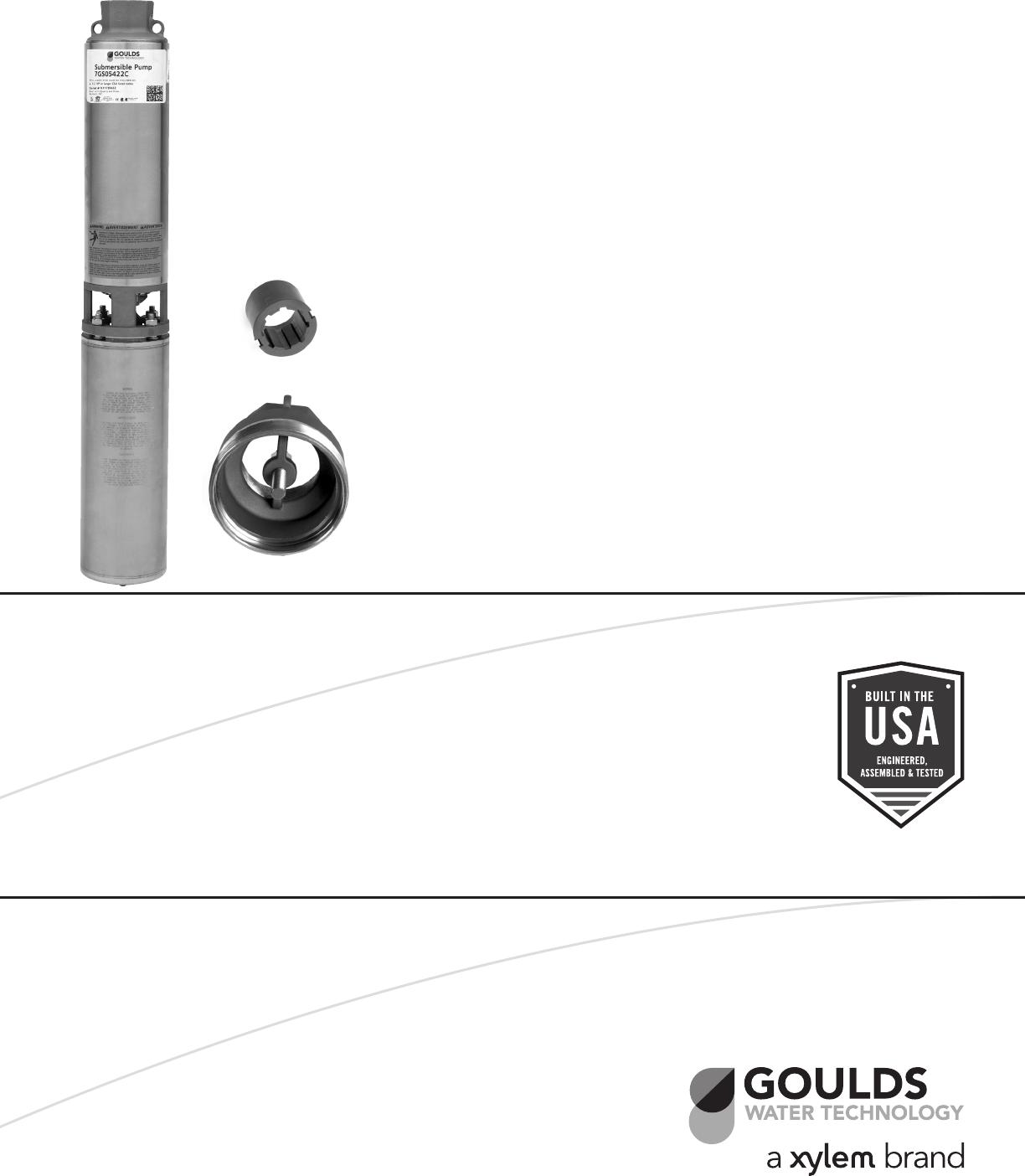 548749 3 Goulds GS CBM Extreme 4 Inch Submersible Pump End