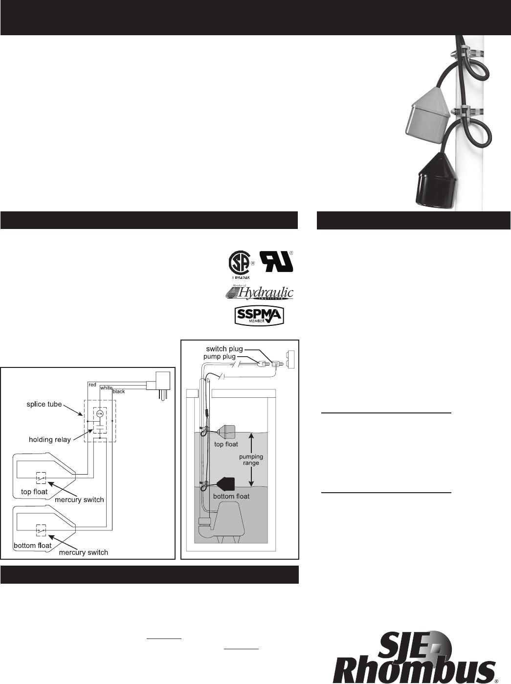 Sje Rhombus Wiring Diagram Model 122 9500157a Bap Plus 549212 1 Double Float Specifications 112
