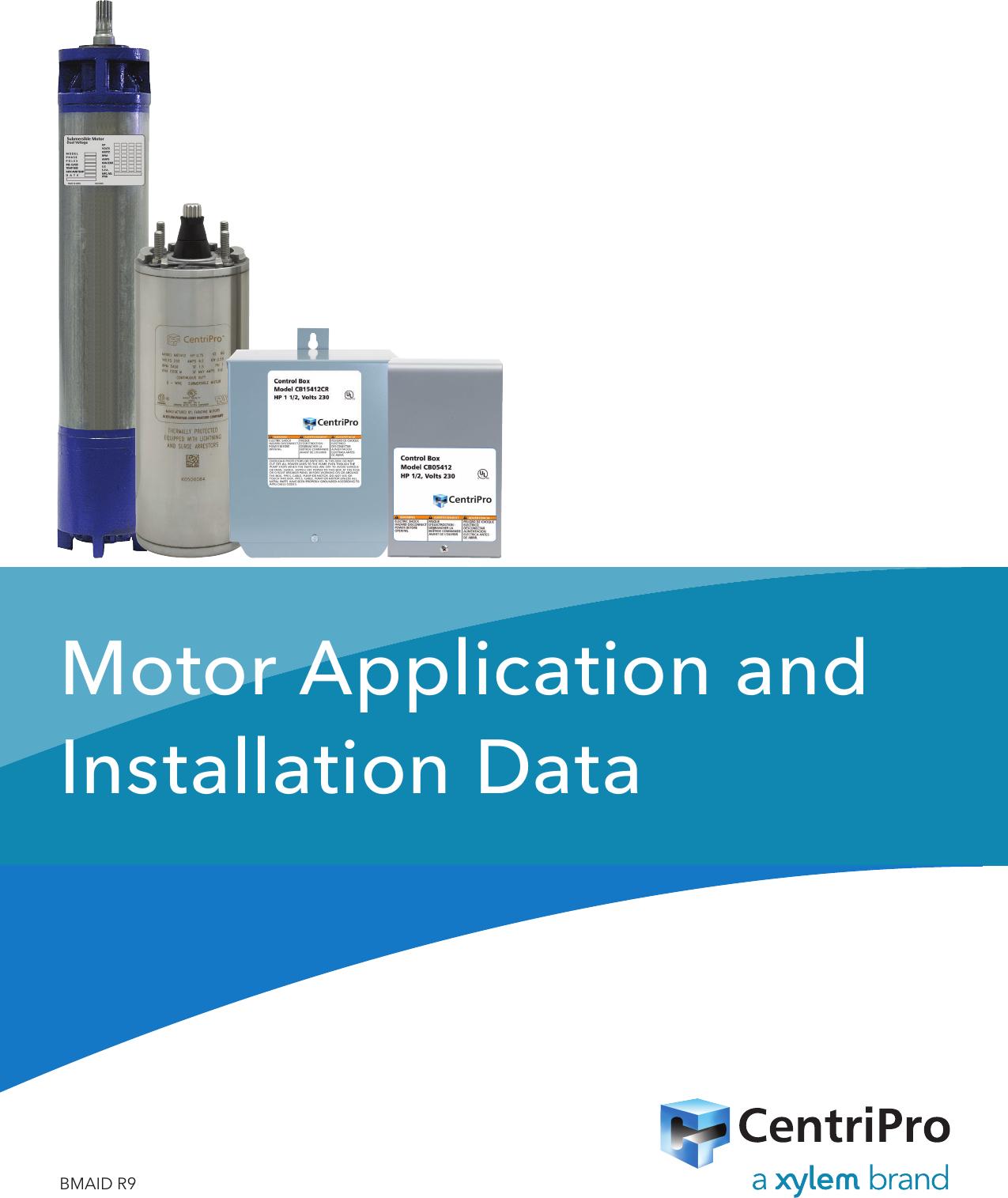 550834 3 Goulds 6 10 Three Phase Motors Installation Data Manual
