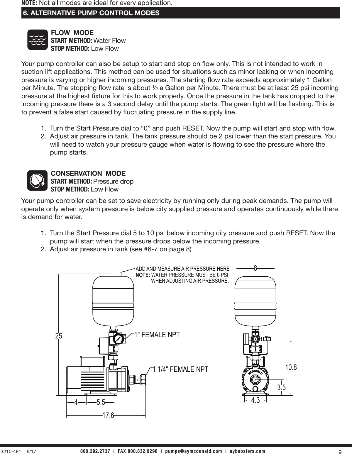 550858 2 Ay Mc Donald Light Commercial Booster System Installation Air Pressure Gauge Wiring Diagram Page 9 Of 12 Instructions