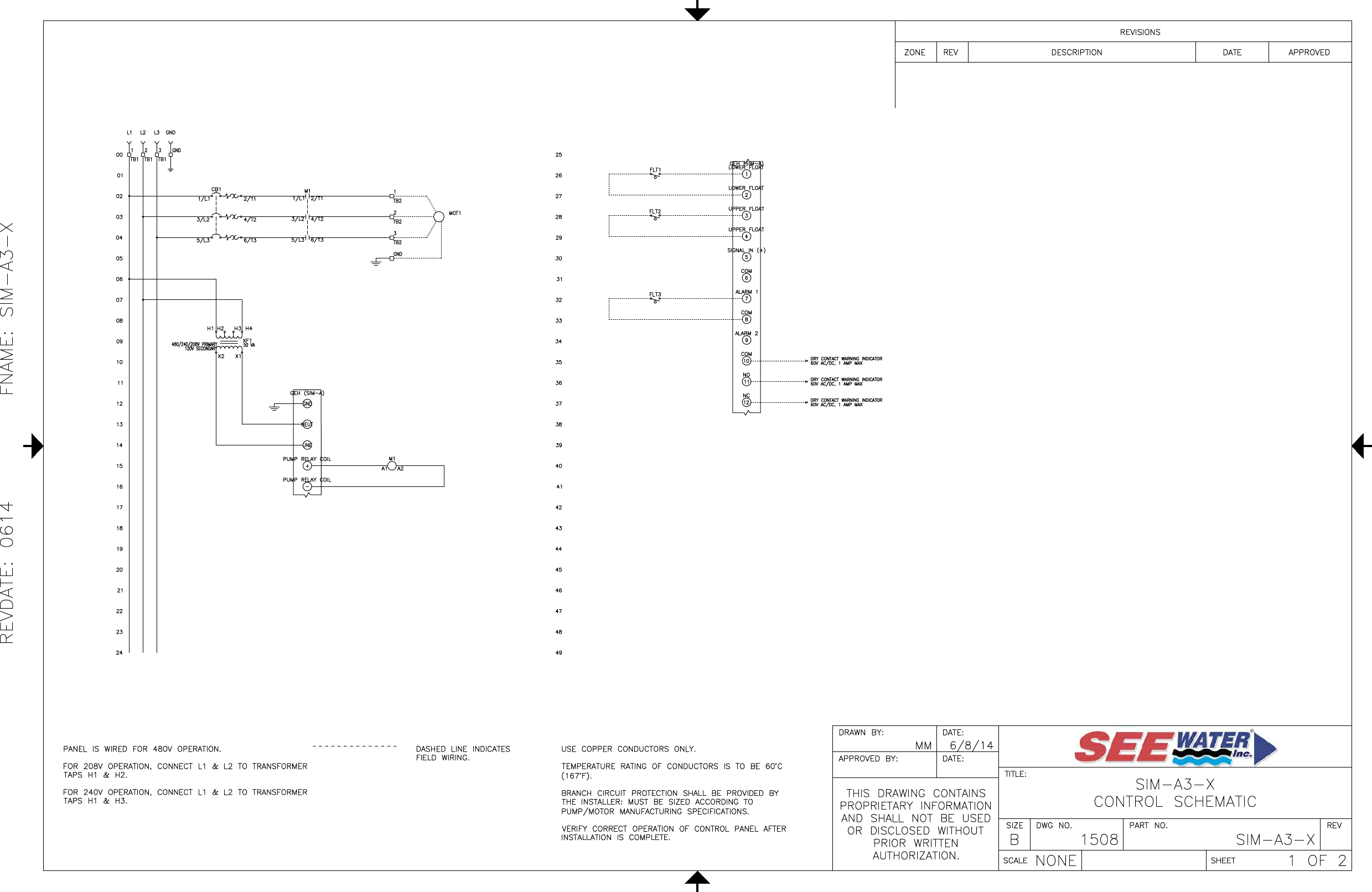 2 551344 3 See Water Inc Sim A Three Phase Simplex Wiring Diagram Dashed Line