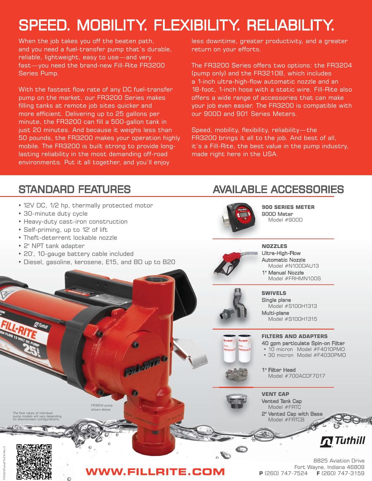 Fr3200pumpsb En Rev 0 552059 3 Fill Rite Fr3204 Dc Fuel Transfer Pump Filter Page 2 Of