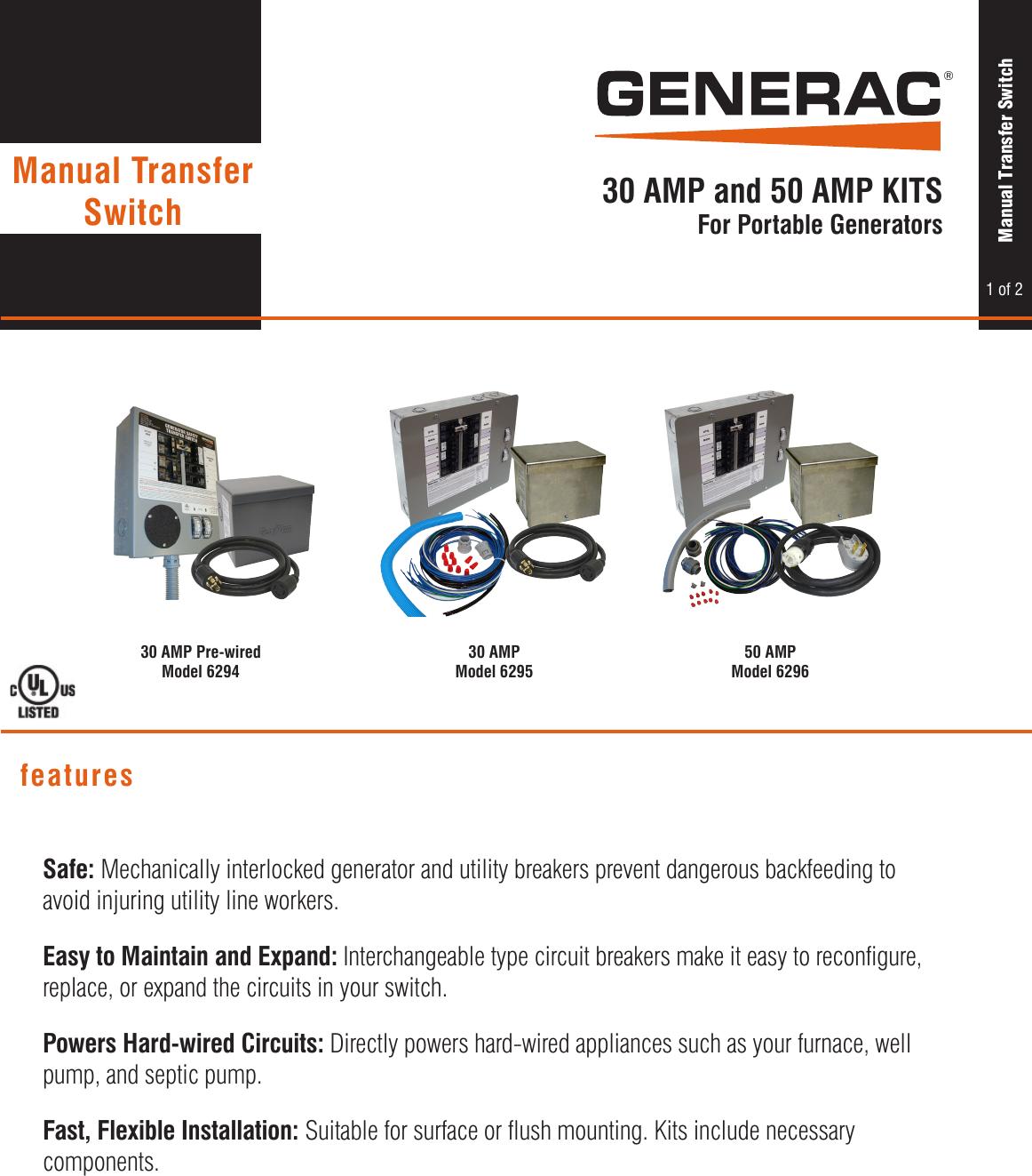 65719 1 Generac 6295 Brochure Wiring Harness Connectors